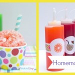 Homemade Snow Cone Syrup Recipe In Custom Decorated Bottles