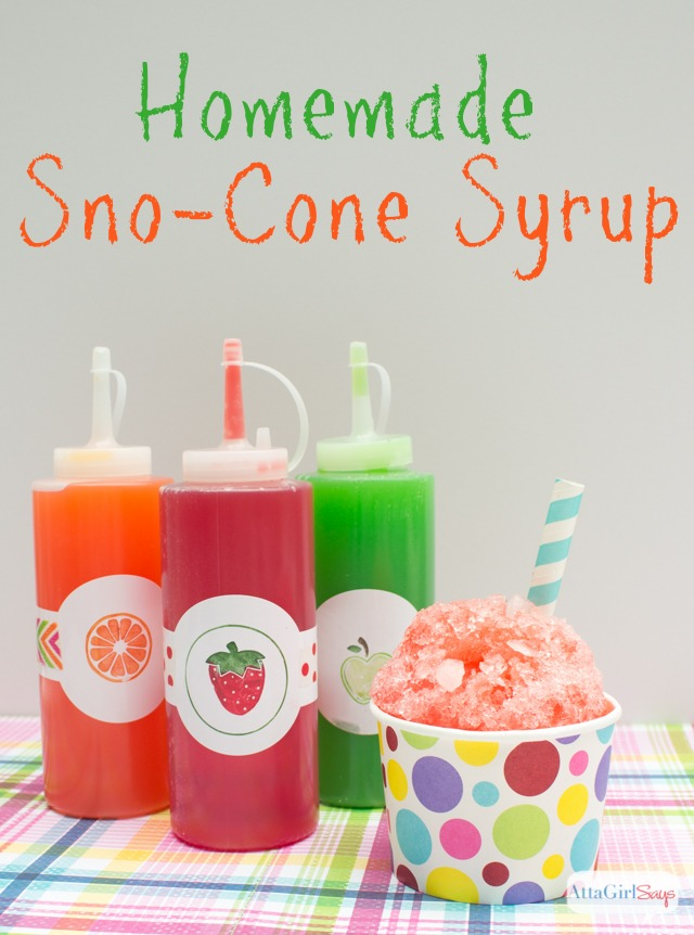 Sno-Cone Syrup by Atta Girl Says