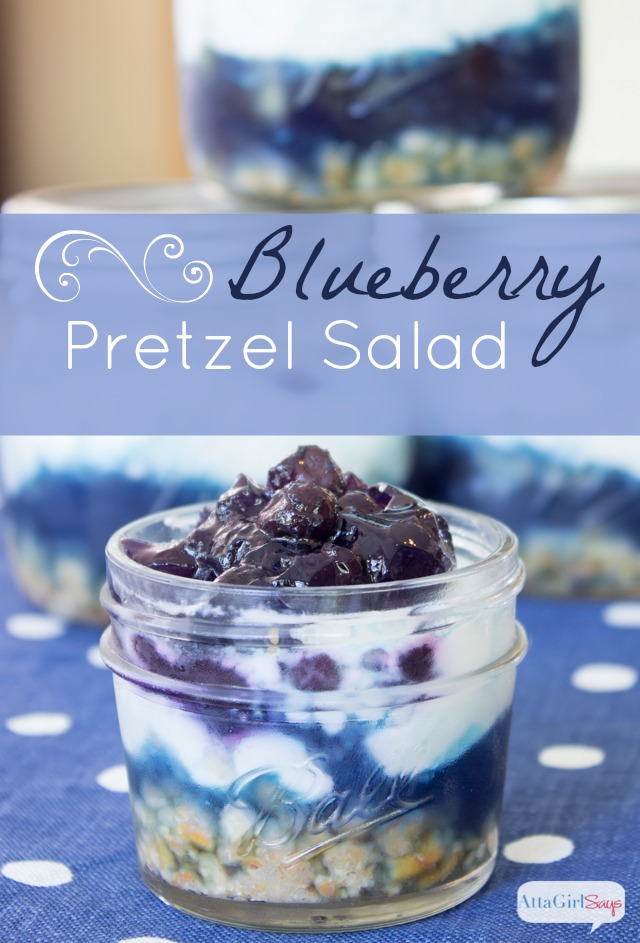 Jell-O Blueberry Pretzel Salad