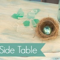 Sea Glass Table Makeover