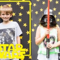 Star Wars Birthday Party Photo Backdrop
