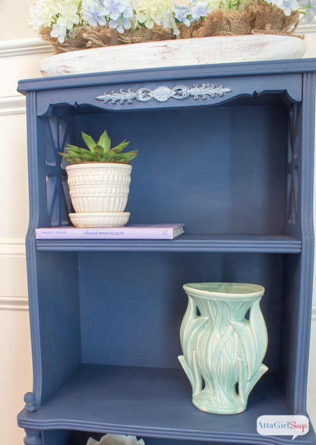 Indigo Blue Painted Bookshelf