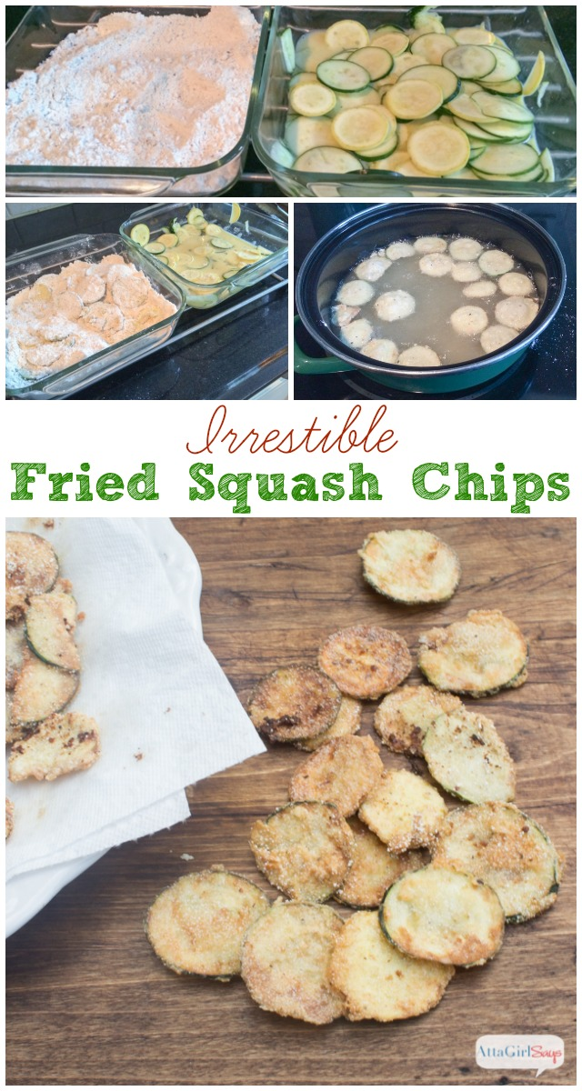 step by step photos showing how to fry squash and how to fry zucchini