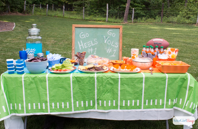 Show Your Team Colors Tailgating Party Ideas - Atta Girl Says