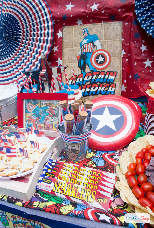 Captain america kids party images crafts for American party decoration