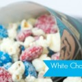 White Chocolate Popcorn Snack Mix with M&Ms