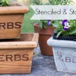 Stenciled & Stained Wooden Planter Boxes #woodprojectshoa with AttaGirlSays.com