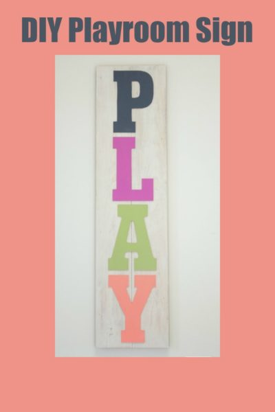 DIY Painted Playroom Wood Sign