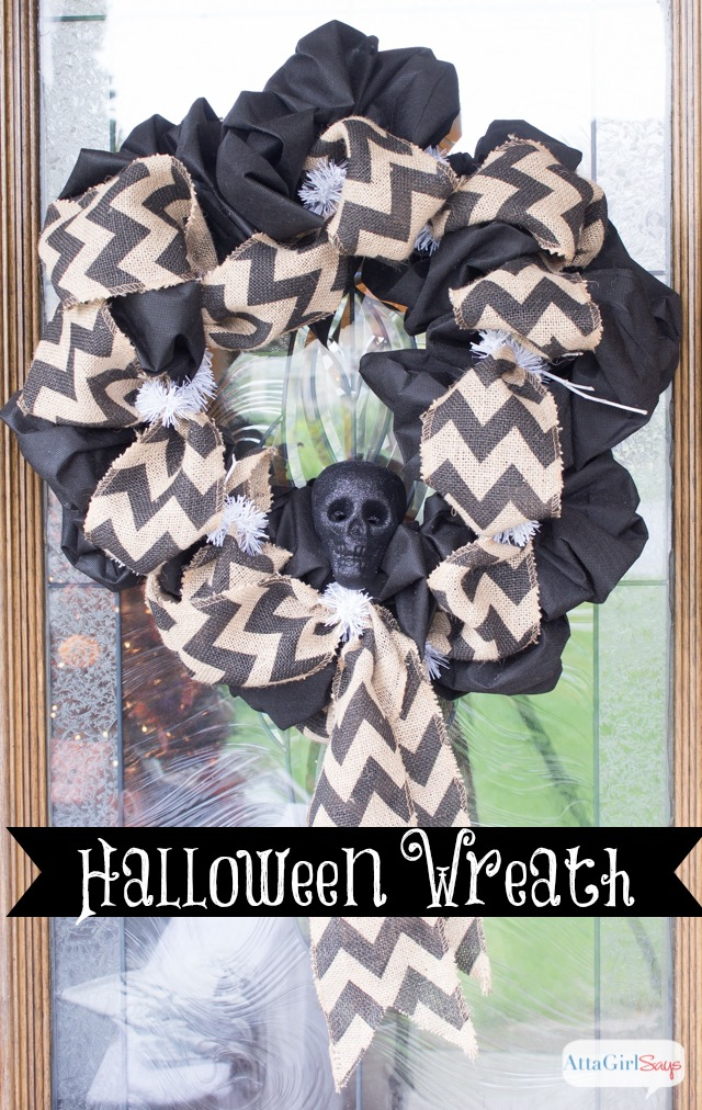 Burlap & Black Halloween Wreath Ideas