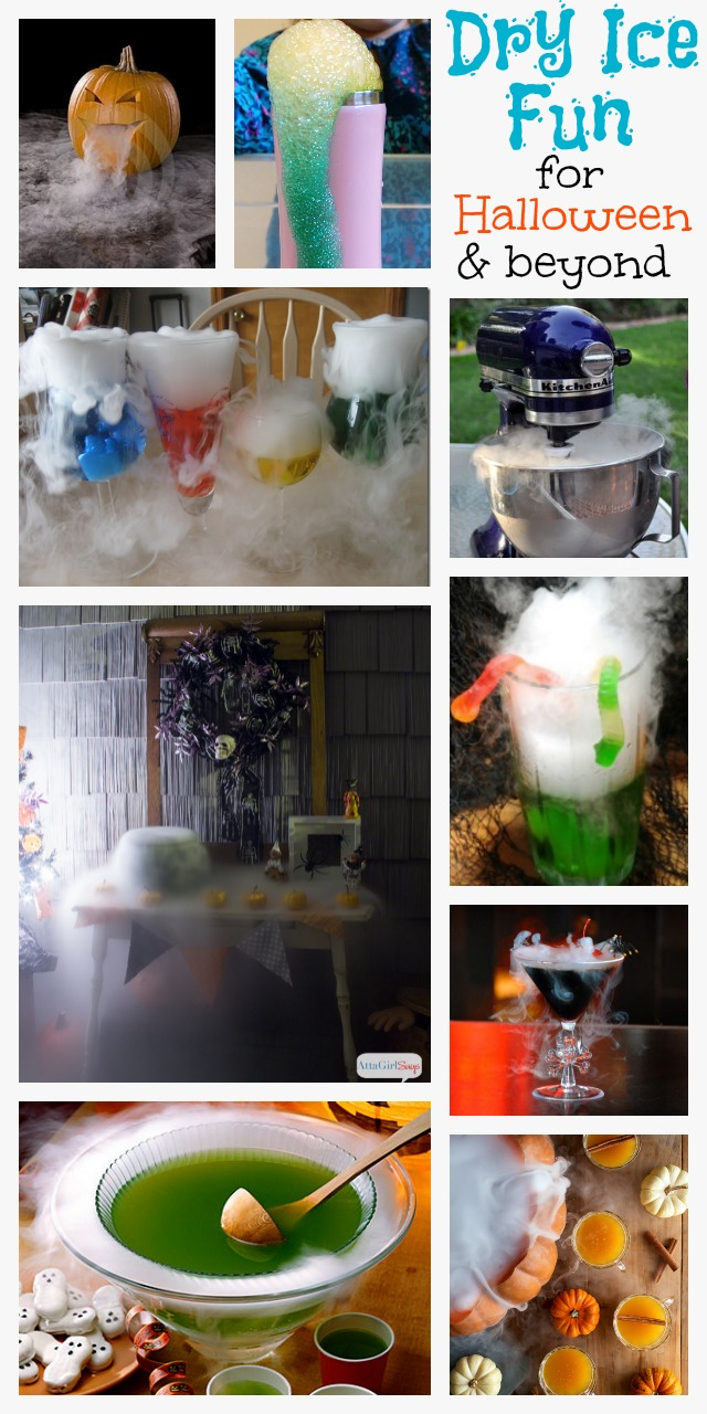 Learn how to make witch's brew punch, a foggy bubbling cauldron and a smoking  Jack-O-Lantern, plus lots of other dry ice experiments for Halloween and beyond.