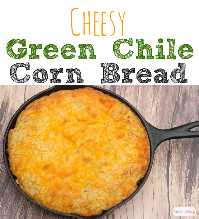 Cheesy Green Chile Corn Bread Recipe
