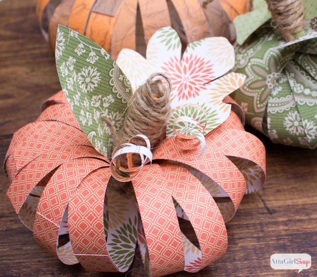 Scrapbook Paper Pumpkins Two Ways Atta Girl Says