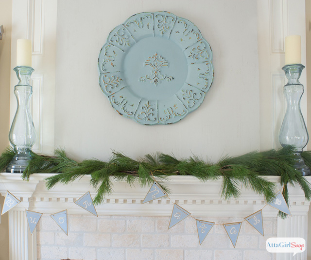 """Bring a little international flair to your Christmas decorating with this handpainted Christmas banner embellished with the phrase, """"Buon Natale,"""" Italian for Merry Christmas"""