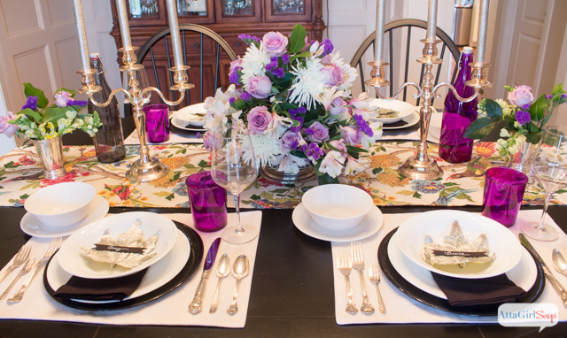 Elegant thanksgiving table decorations