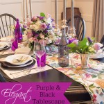 Elegant Black & Purple Thanksgiving Table Decor