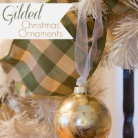 DIY Gilded Christmas Ornaments