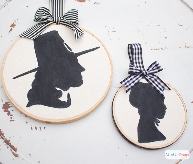Thanksgiving Embroidery Hoop Art Silhouettes