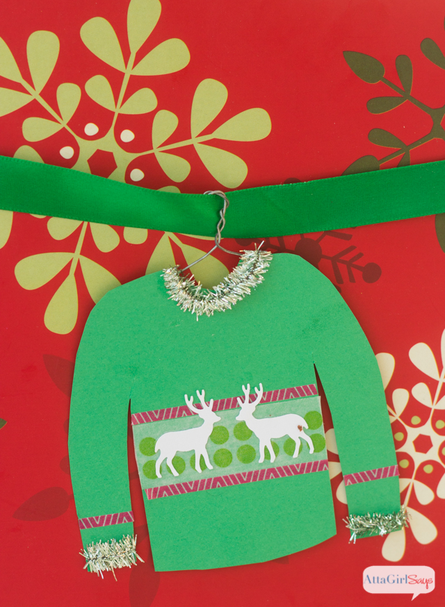 0cad06d708ef3d ... ugly Christmas sweater. What a fun family craft!! Use cardstock