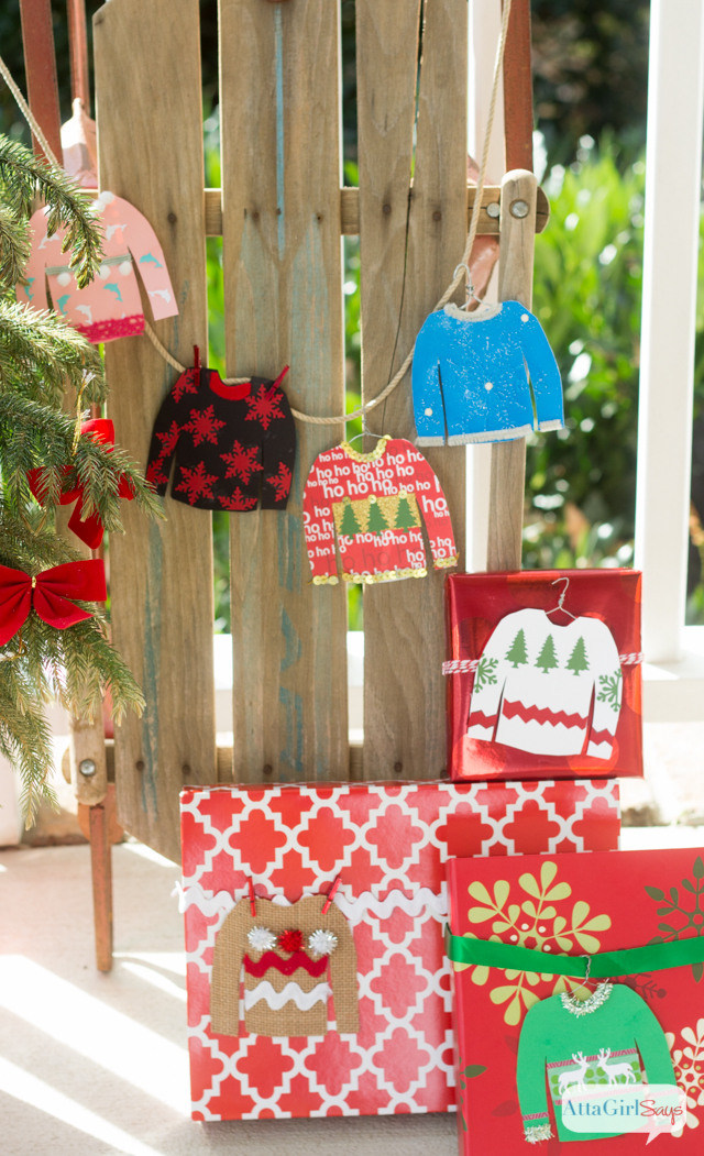 what a fun family craft use cardstock ribbon craft punches washi - How To Decorate A Ugly Christmas Sweater