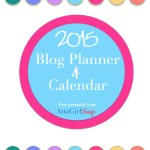 2015 Blog Planner Cover