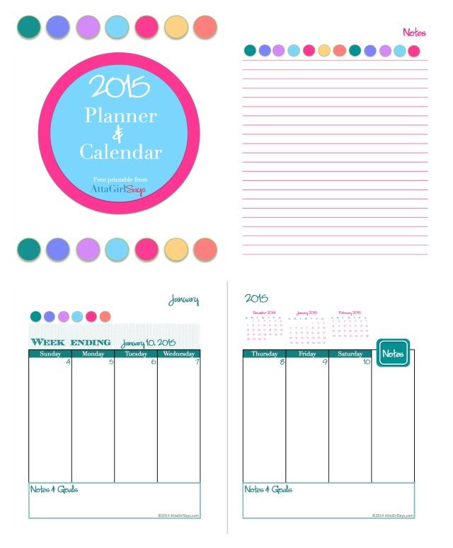 weekly printable calendars 2015