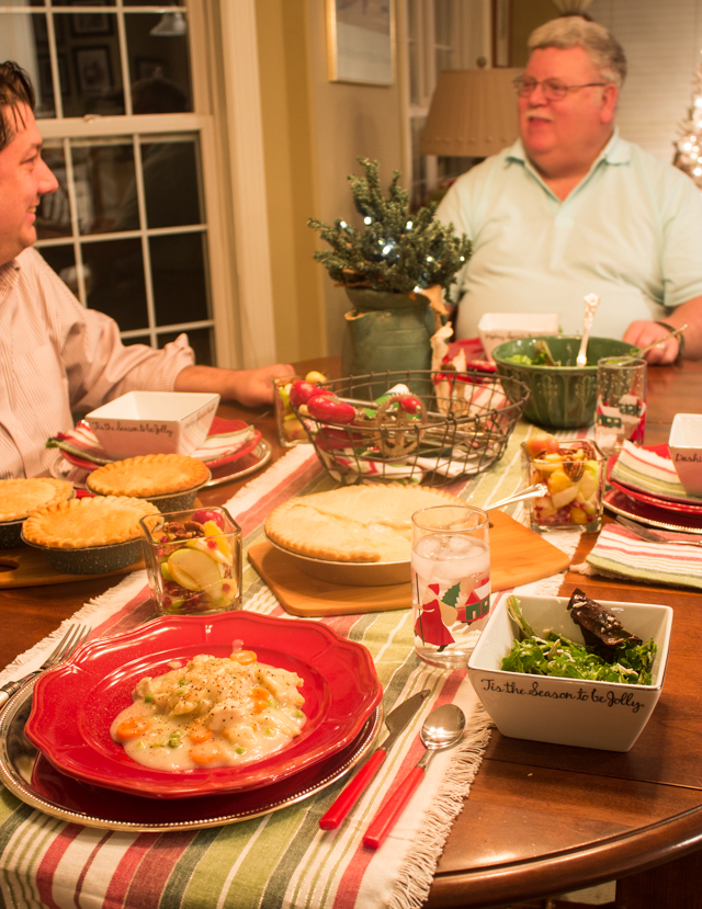 Casual Holiday Dinner Party Ideas for Friends and Family with Marie Callender's pot pies