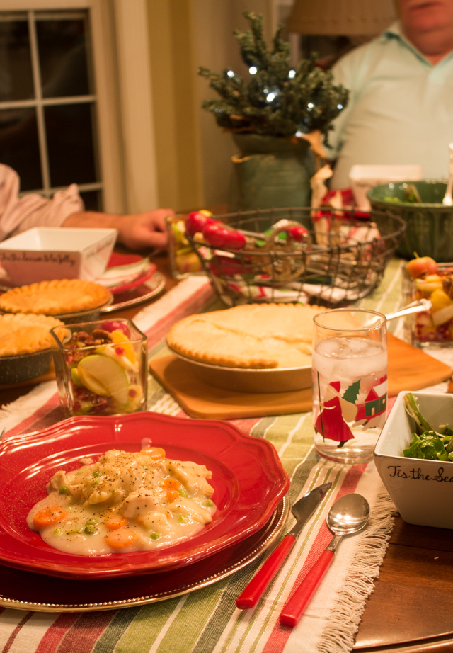 Family Dinner Party Ideas Part - 18: Casual Holiday Dinner Party Ideas For Friends And Family With Marie  Callenderu0027s Pot Pies