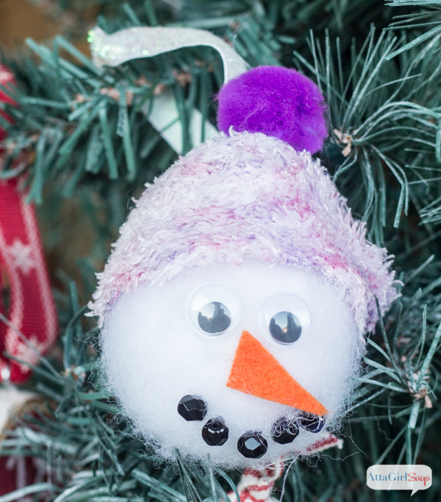 No-Sew Snowman Christmas Ornaments - Atta Girl Says