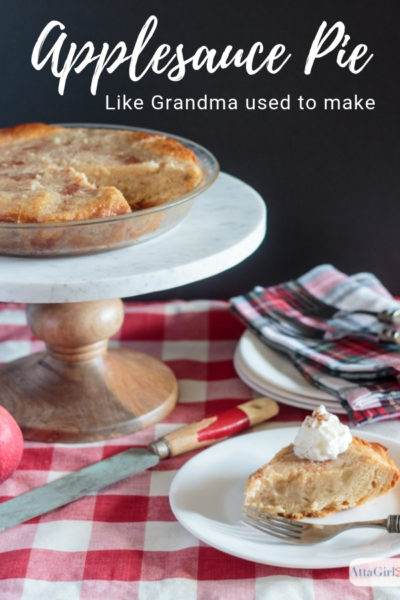 Old Fashioned Homemade Applesauce Pie