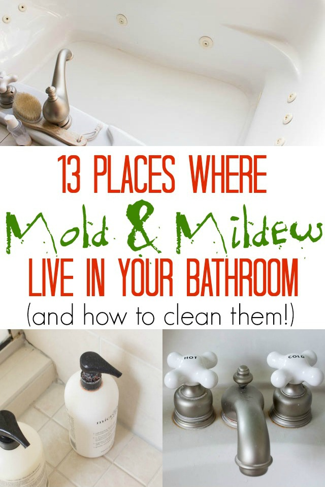 13 Places Where Mold & Mildew Live in Your Bathroom & How to Clean Them
