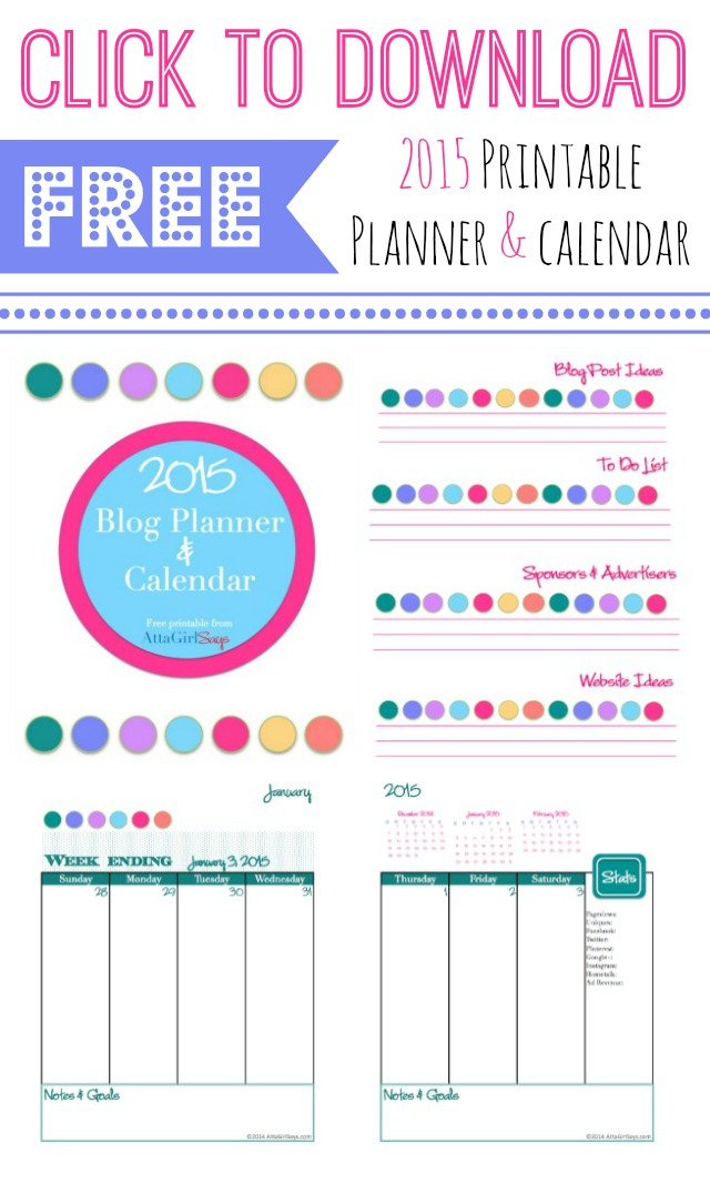 Arc Calendar Printables : Free printable planner and calendar atta girl says