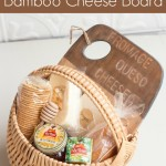 Learn how to make an antiqued bamboo cutting board, a perfect addition to a gourmet gift basket this holiday season.