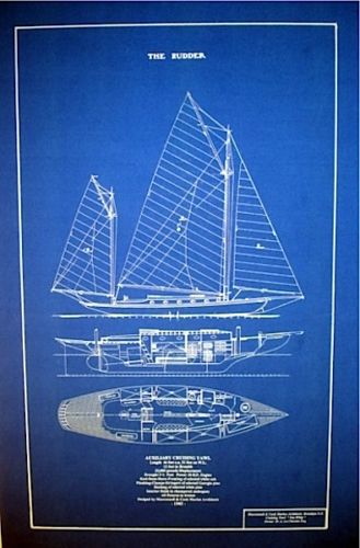 Vintage Maritime Nautical Decor: Maritime Blueprint