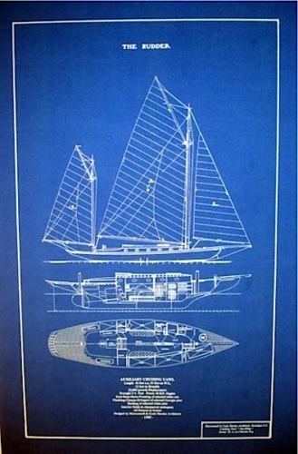 Vintage Maritime Nautical Decor: Maritime Blueprint
