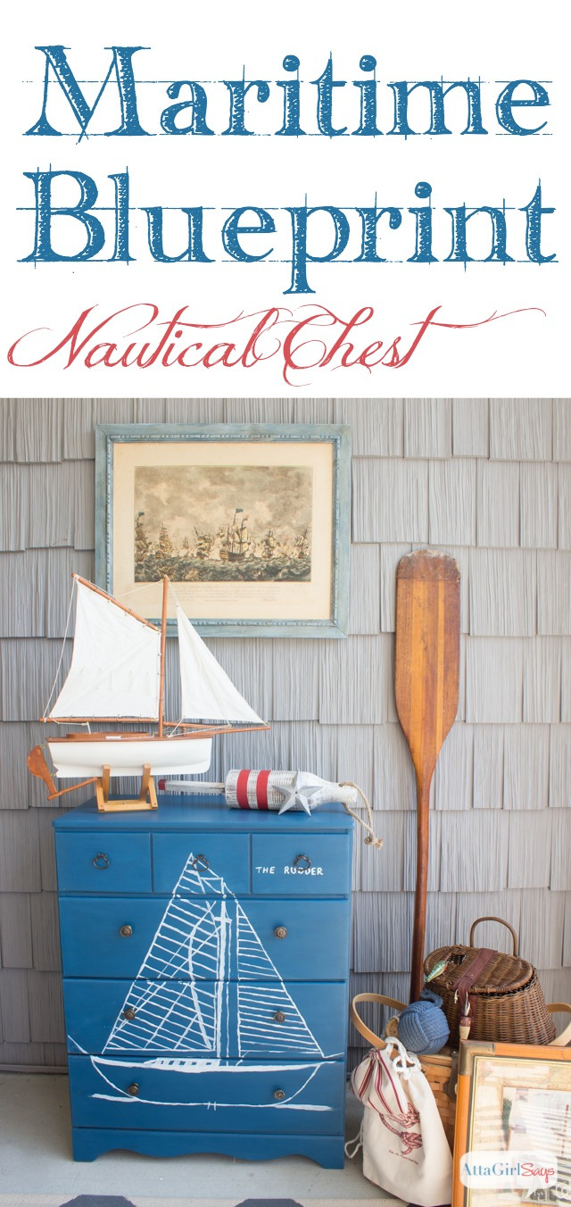 this chest would be perfect at a beach house or in a childs room decorated with nautical furniture decor