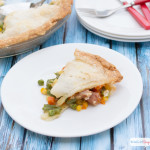 Looking for leftover ham recipes? Click over for two easy ham pot pie recipes. Only 5 ingredients for each!