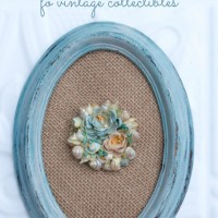 Learn how to distress painted wood: and make these cute display frames for collectibles and other items you want to showcase.