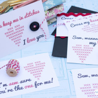 Sew Cute Free Printable Valentine's Day Cards