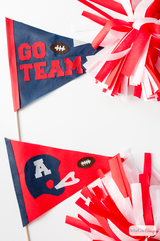 Super Bowl Party Decorations: No-Sew Pennants & Pom-Poms