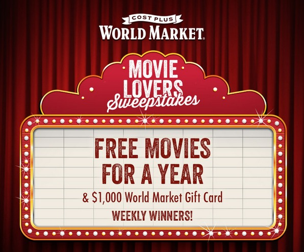 Enter the World Market Movie Lovers Sweepstakes