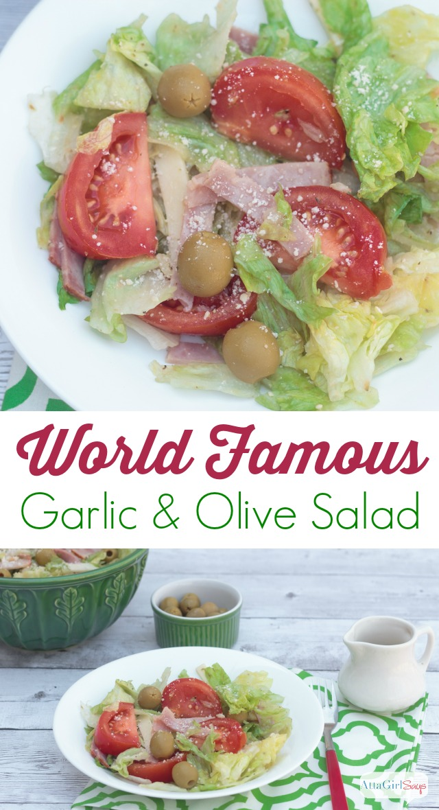 Seriously...the best salad recipe ever - a make-at-home version of the world famous Columbia Restaurant 1905 Salad. It is a garlic and olive lover's delight. and so easy to make.