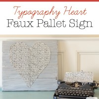 Typography Heart Faux Pallet Wood Sign