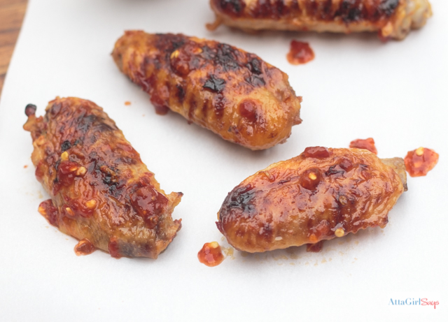 Sweet and Spicy Chicken Wings in the Slow Cooker