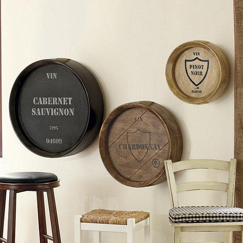 Ballard Designs Wine Barrel Plaque