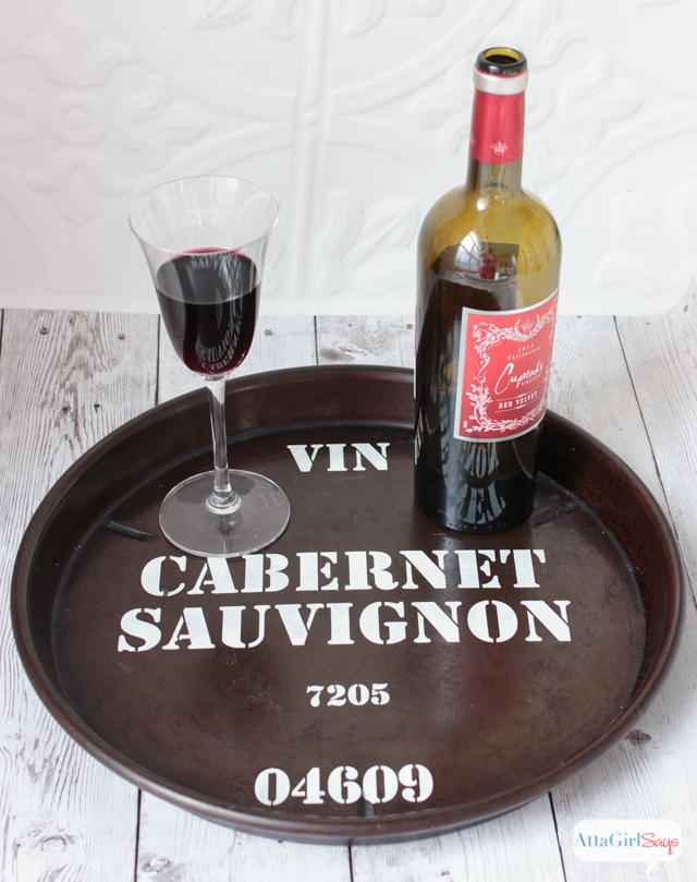 Knockoff Wine Barrel Tray & Sign