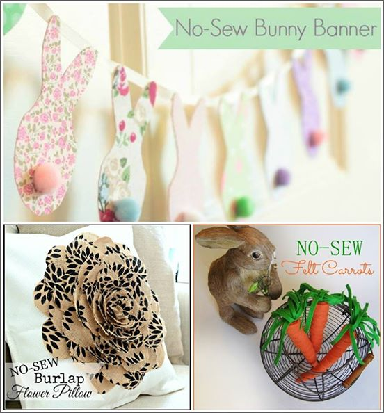 No-Sew Spring and Easter Crafts