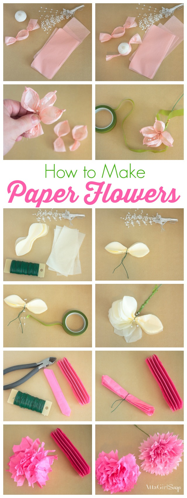 How to make tissue paper flowers atta girl says how to make tissue paper flowers mightylinksfo