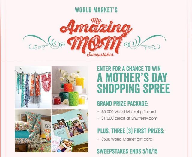 Enter World Market's #MyAmazingMom Sweepstakes #spon