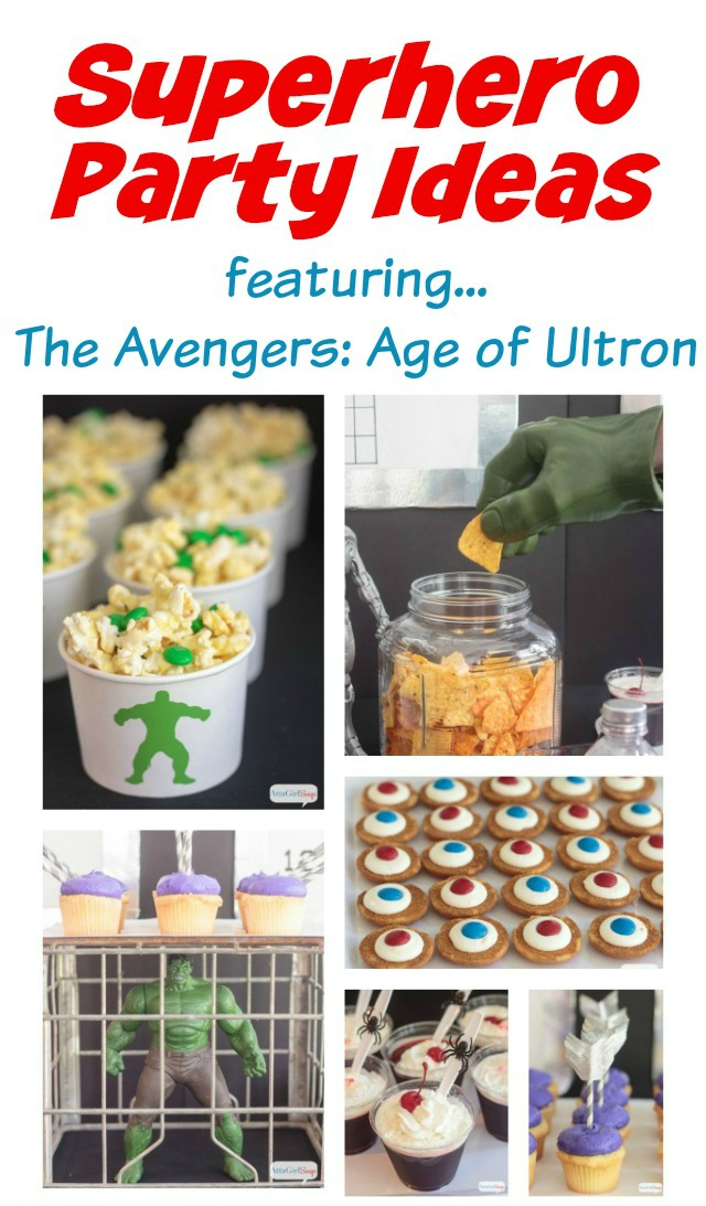 Superhero Party Ideas featuring MARVEL's The Avengers: Age of Ultron #AvengersUnite #cbias #ad