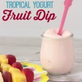 Whip up a batch of this tropical yogurt fruit dip for an after-school snack! #PourMoreFun #cbias #ad